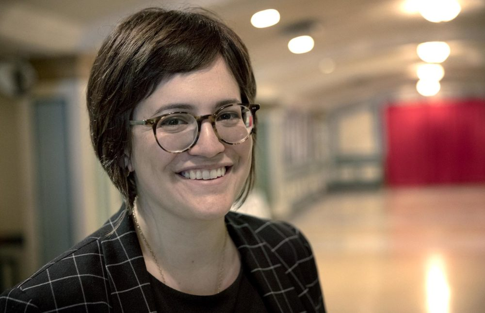Kara Elliott-Ortega, Boston's Chief of Arts and Culture at The Strand Theatre. (Robin Lubbock/WBUR)