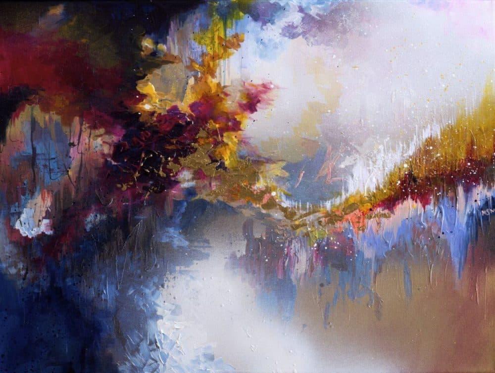 """McCracken's painting inspired by John Lennon's """"Imagine."""" (Courtesy of Melissa McCracken)"""