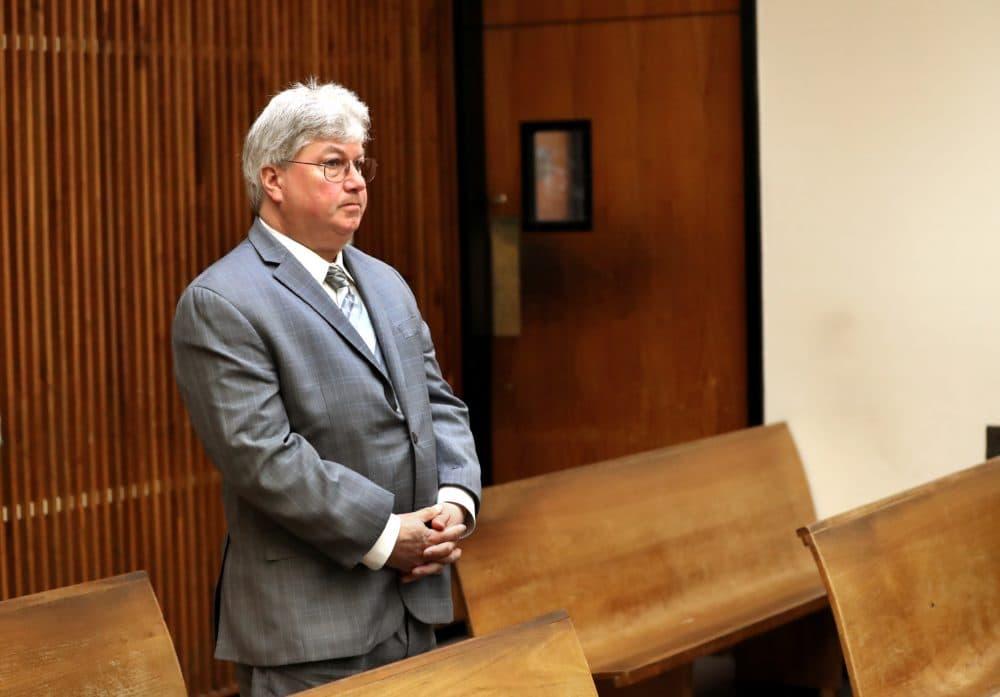 Sen. Michael Brady of Brockton in Quincy District Court. (David L. Ryan/Boston Globe Pool Photo via SHNS)