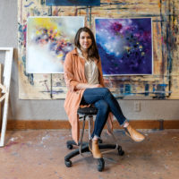 Artist Melissa McCracken lives with a neurological condition that causes her to see music as color. (Kelly Kuhn/Courtesy of Melissa McCracken)