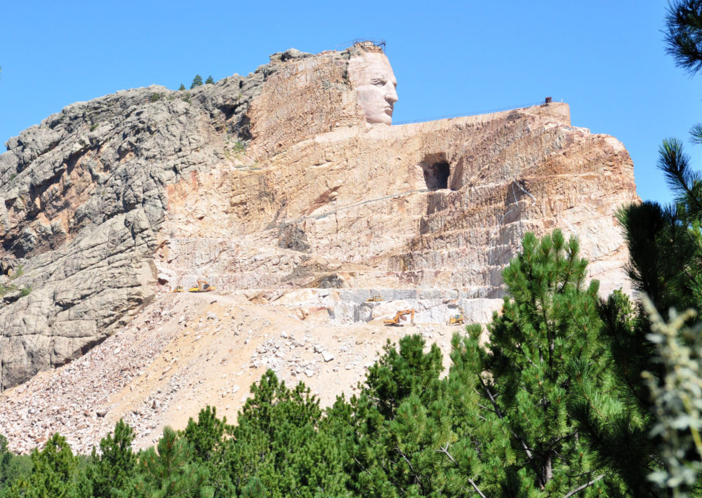The Crazy Horse mountain carving looks out to South Dakota's Black Hills near Custer, S.D. (Dirk Lammers/AP)