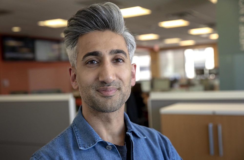 "Tan France, fashion designer and star of Netflix's ""Queer Eye"" (Robin Lubbock/WBUR)"