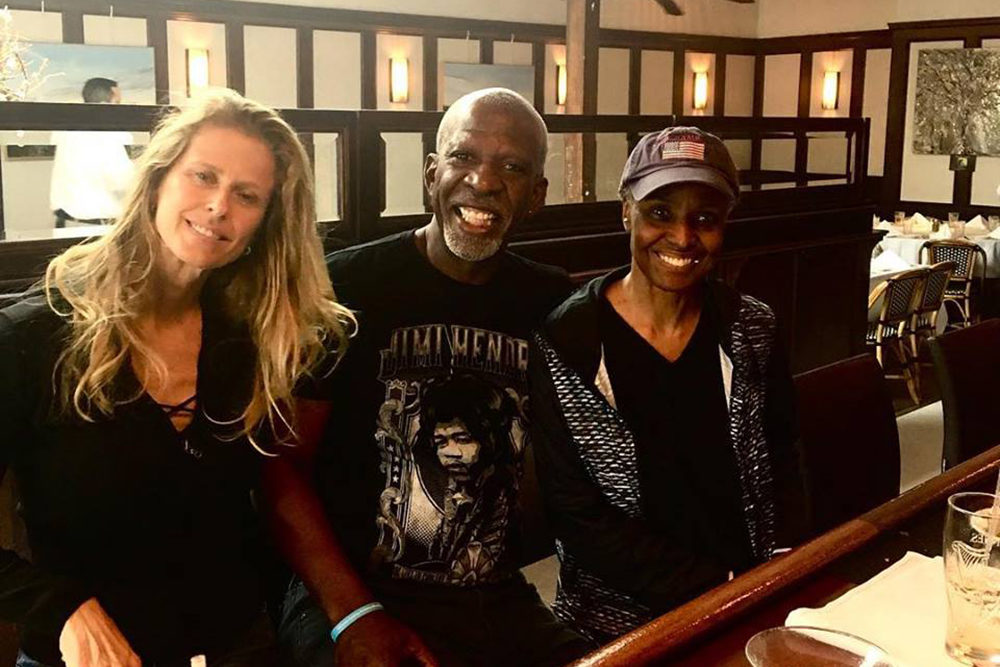 Dan Gasby (middle) is taking care of his wife B. Smith (right), who was diagnosed with Alzheimer's in 2013, with the help of his girlfriend Alex Lerner (left). (Courtesy of Dan Gasby)