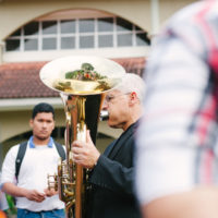 Sam Pilafian plays the tuba in Thailand. The prolific brass musician was a fixture in Boston for many years. He died in April at 69. (Courtesy/Boston Brass)