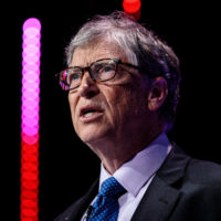 "Bill Gates, co-founder of Microsoft, says he isn't sure breaking up big tech companies like Facebook and Google would address issues like privacy. ""I'm not aware people are saying that [tech companies have] broken laws in such a way that the remedy would be to do that,"" he tells Here & Now. (Jack Taylor/Getty Images)"