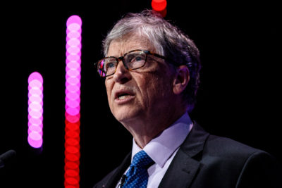 """Bill Gates, co-founder of Microsoft, says he isn't sure breaking up big tech companies like Facebook and Google would address issues like privacy. """"I'm not aware people are saying that [tech companies have] broken laws in such a way that the remedy would be to do that,"""" he tells Here & Now. (Jack Taylor/Getty Images)"""