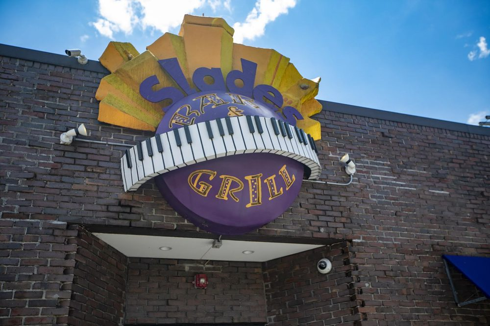 Slades Bar & Grill in Roxbury was once included in The Green Book. (Jesse Costa/WBUR)