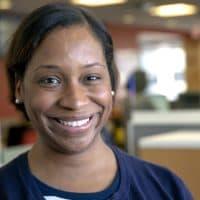 City Council President Andrea Campbell. (Robin Lubbock/WBUR)