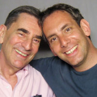 StoryCorps founder Dave Isay, right, and his father, Richard Isay. (Courtesy of StoryCorps)