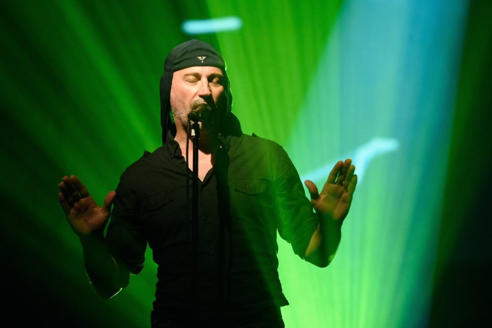 Slovenian band Laibach performing live. (Jure Makovec/AFP/Getty Images)