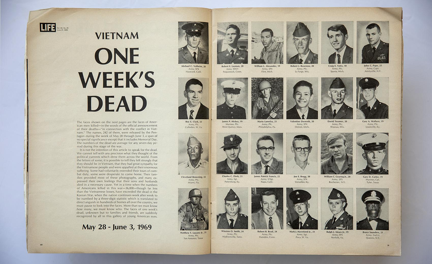Look At These Beautiful Boys In 1969 Life Magazine Published The Faces Of Americans Killed In Vietnam Here Now