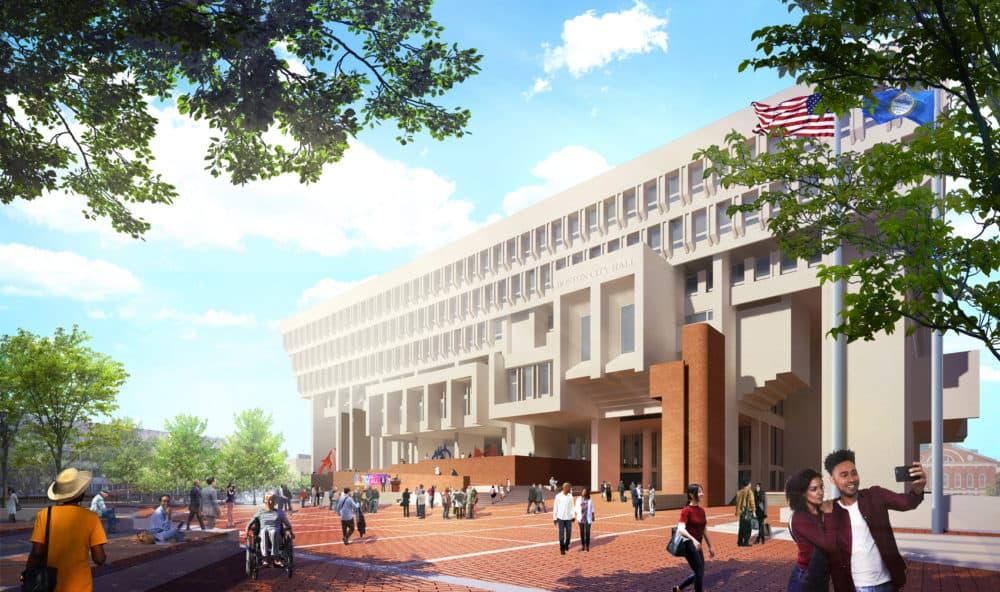 The main entrance. (Courtesy City of Boston)
