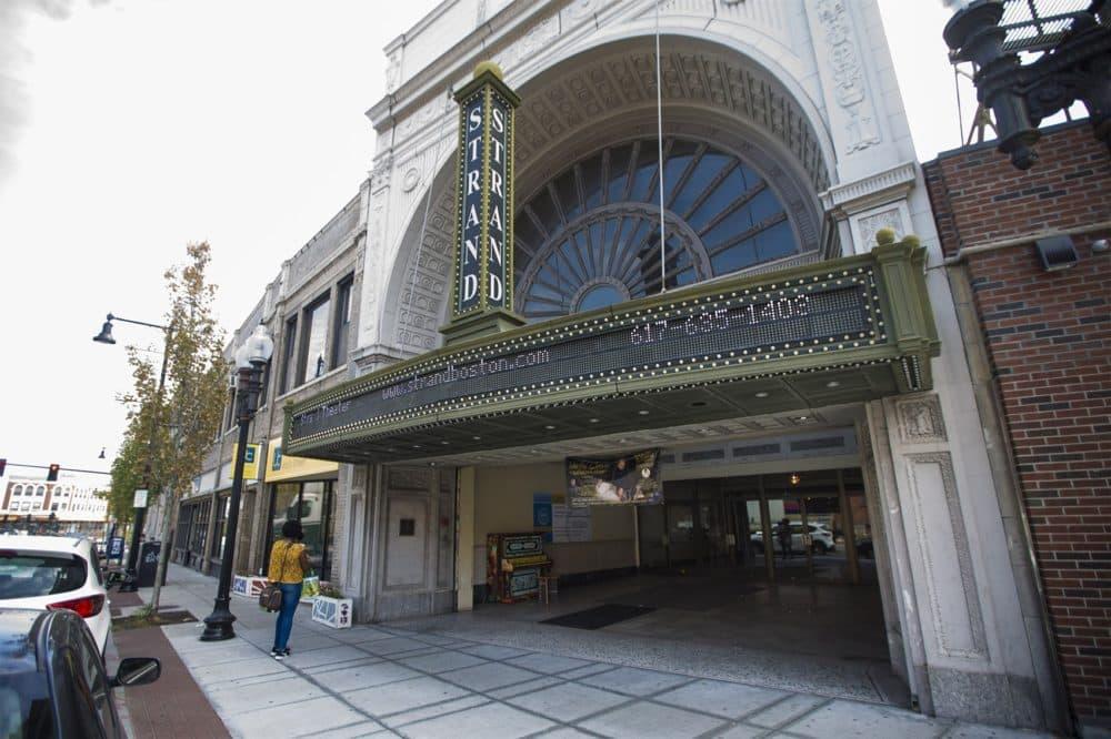 The Strand Theater in Uphams Corner, Dorchester. (Jesse Costa/WBUR)
