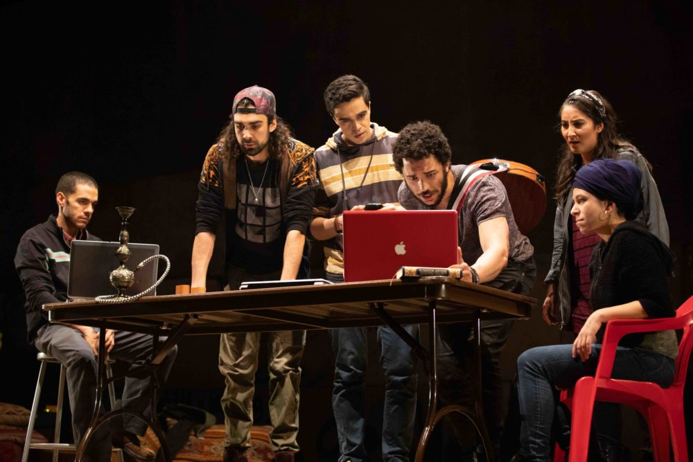 "The cast of ""We Live in Cairo."" (Photo by Evgenia Eliseeva)"