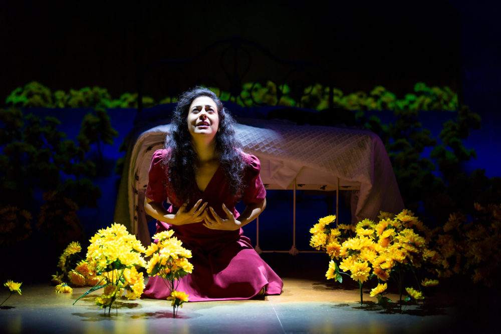 "Nadine Malouf (Yerma) in the Huntington Theatre Company's production of ""Yerma."" (Courtesy of T. Charles Erickson)"
