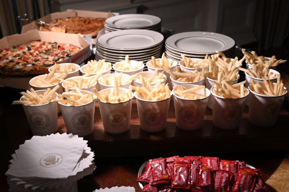 In January, The White House served french fries, pizza and other fast food items to the Clemson Tigers. (Susan Walsh/AP Photo)