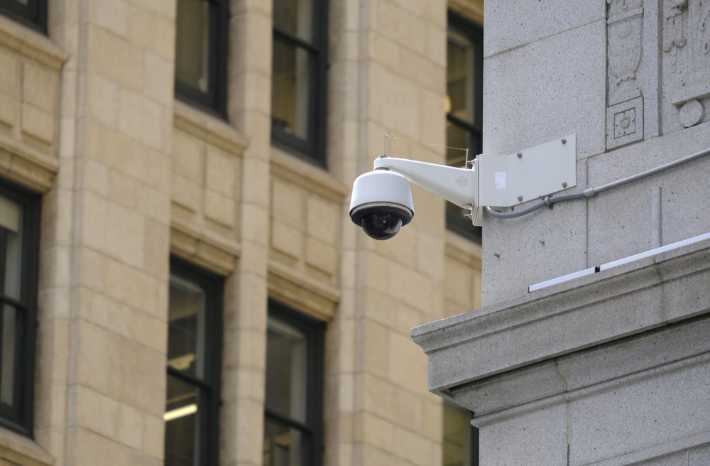A security camera in the Financial District of San Francisco (Eric Risberg/AP)
