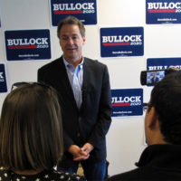 Democratic presidential candidate Montana Gov. Steve Bullock answers a question during a news conference in Helena, Mont., Tuesday, May 14, 2019. (Matt Volz/AP)