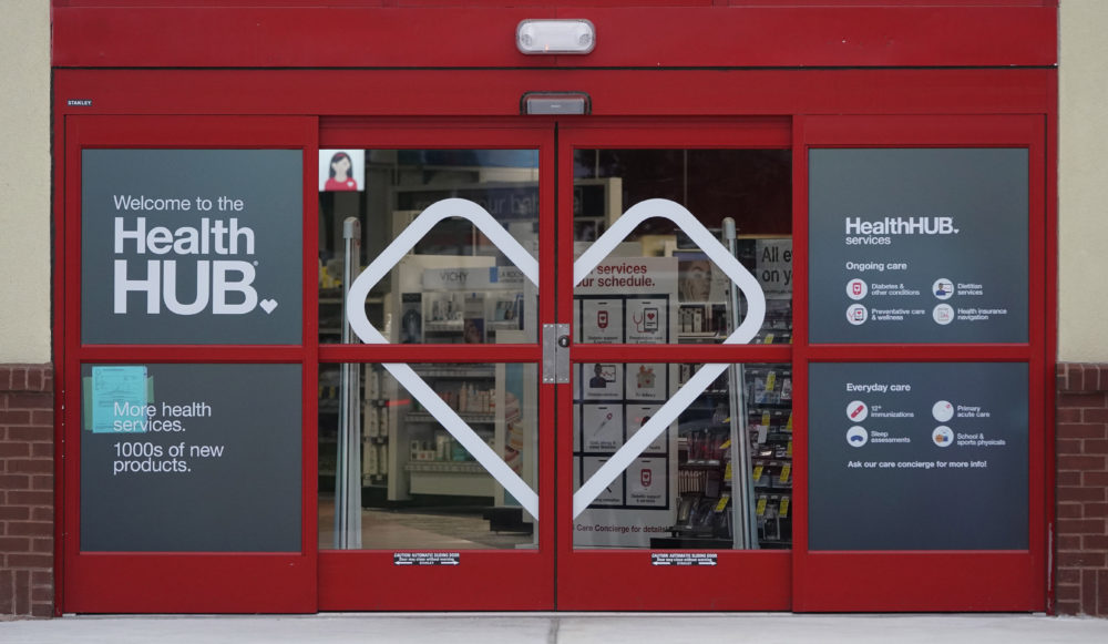 The entrance to a CVS store with the new HealthHUB is shown in Spring, Texas. (David J. Phillip/AP)