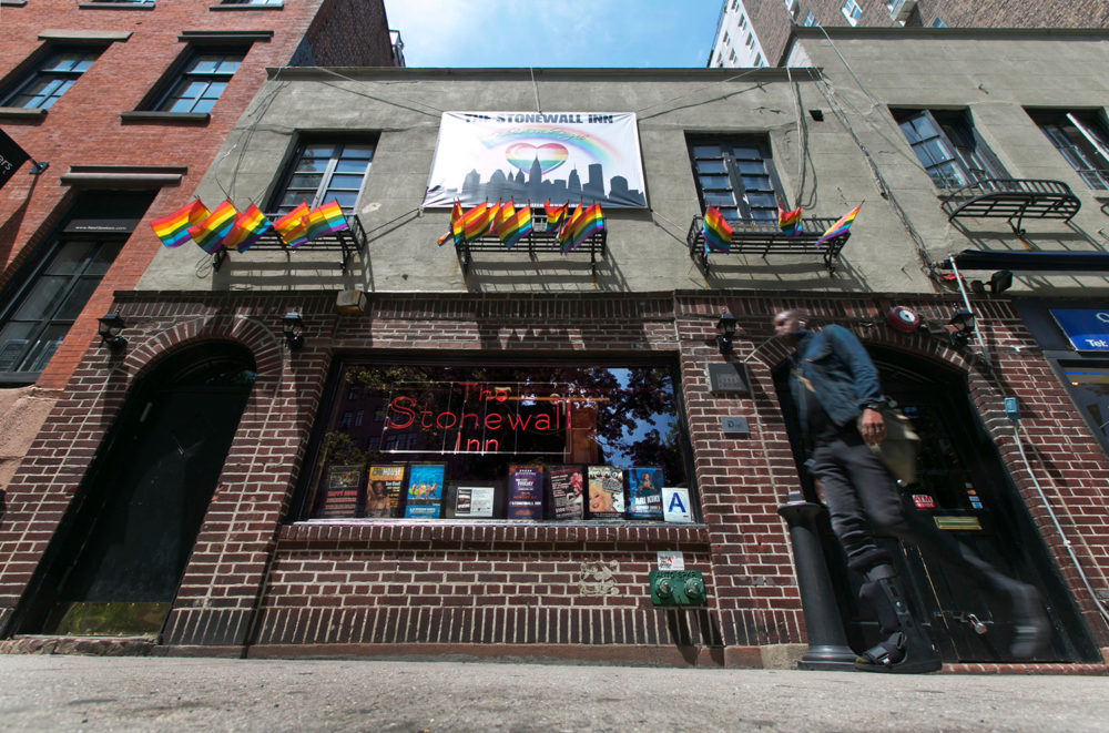 A man walks past the site of Stonewall. June's Pride Month 2019 marks the 50th anniversary of the riots at Stonewall Inn, in New York''s Greenwich Village,  which galvanized the Gay Rights Movement in 1969. (Richard Drew, AP Photo)