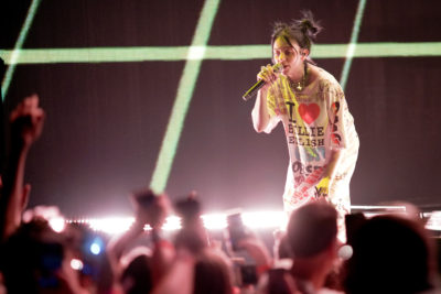 Billie Eilish performs in Chicago earlier this month. (Rob Grabowski/Invision/AP)