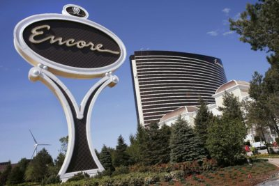 The $2.6 billion  Encore Boston Harbor in Everett, Mass. is scheduled to open June 23 transforming a contaminated property into what is billed as a waterfront oasis. (Michael Dwyer/AP File Photo)
