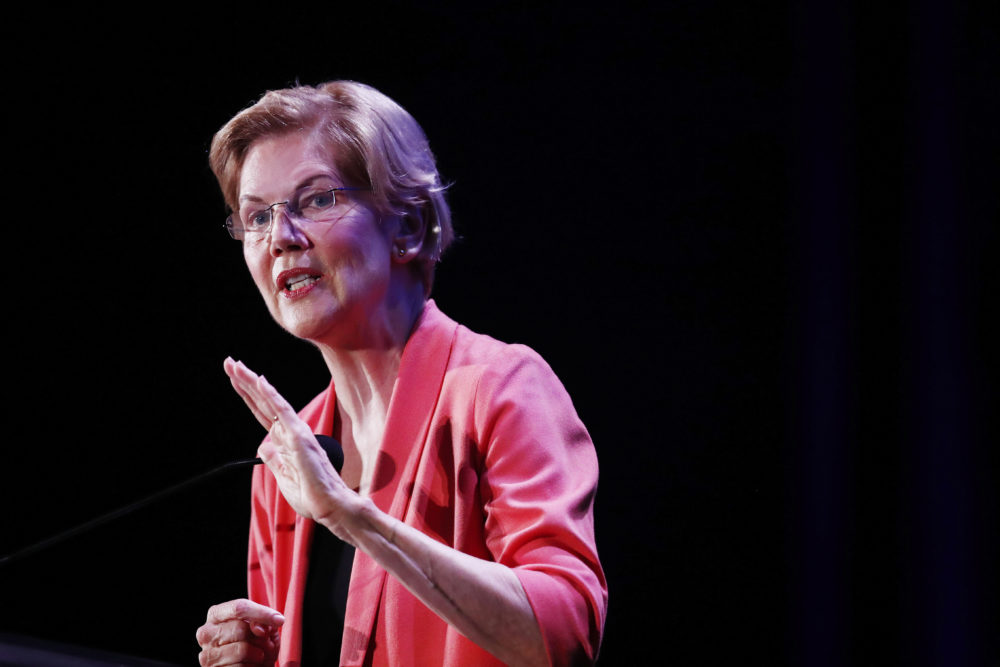 Democratic presidential candidate U.S. Sen. Elizabeth Warren, D-Mass., speaks during a forum on Friday, June 21, 2019, in Miami. (Brynn Anderson/AP)