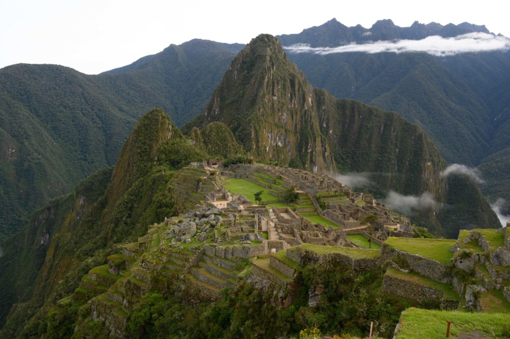 View of the Machu Picchu complex, the Inca fortress enclaved in the south eastern Andes of Peru on April 24, 2019. (Pablo Porciuncula Brune/AFP/Getty Images)