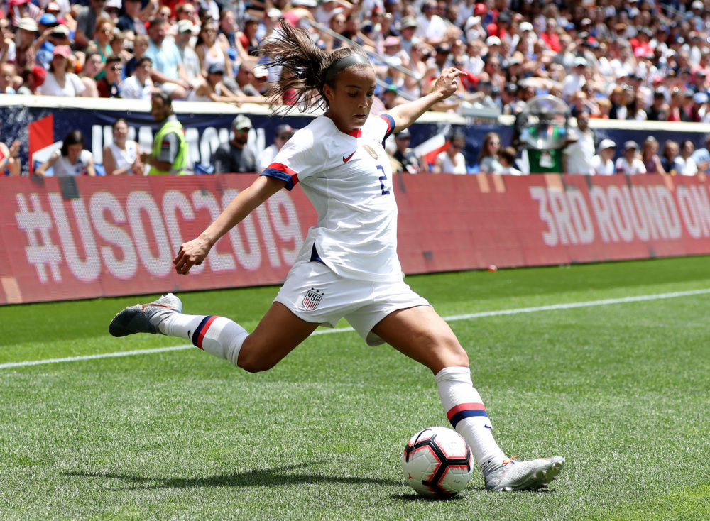 Mallory Pugh playing for Team USA on May 26, 2019. (Elsa/Getty Images)