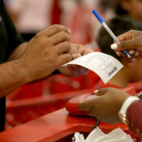 Technical issues at Target over the weekend prevented many customers from making purchases. (Photo by Joe Raedle/Getty Images)