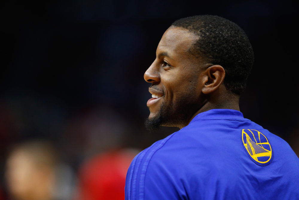 Andre Iguodala was the 2015 NBA Finals MVP with the Warriors. (Sean M. Haffey/Getty Images)