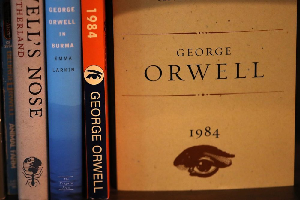 "A copy of George Orwell's novel ""1984"" is displayed at The Last Bookstore on January 25, 2017 in Los Angeles, Calif. (Justin Sullivan/Getty Images)"