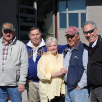 Members of the '69 Mets with Nancy Seaver (center) in Napa Valley. (Courtesy Erik Sherman)