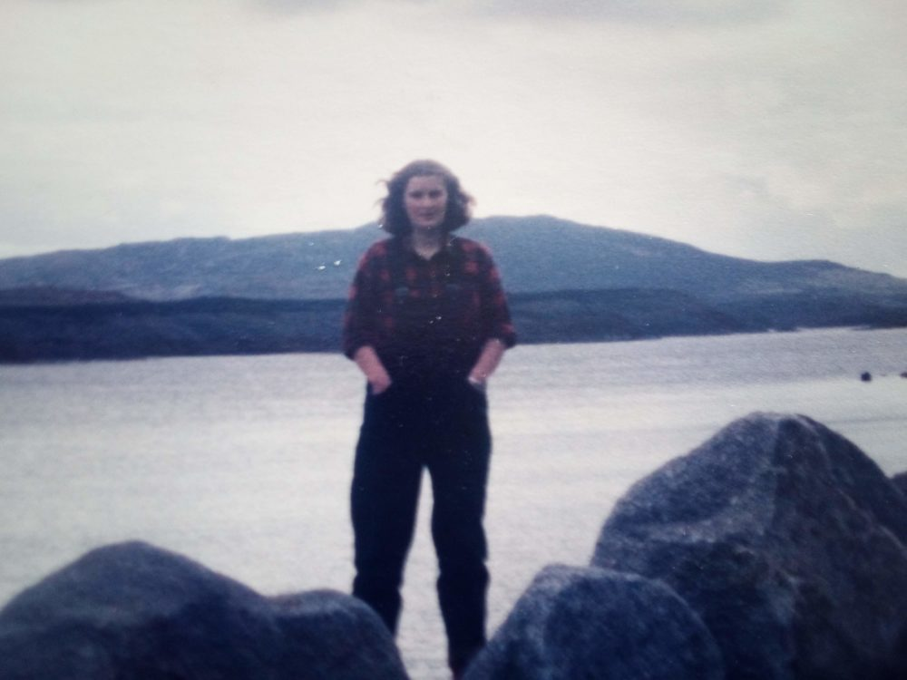 The author in Ireland in 1984.