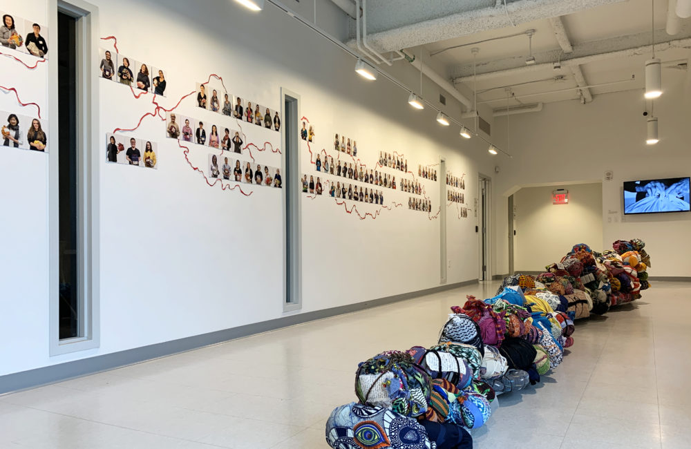 "A view of Yu-Wen Wu's exhibition ""Leavings/Belongings"" at the Pao Arts Center. (Courtesy)"