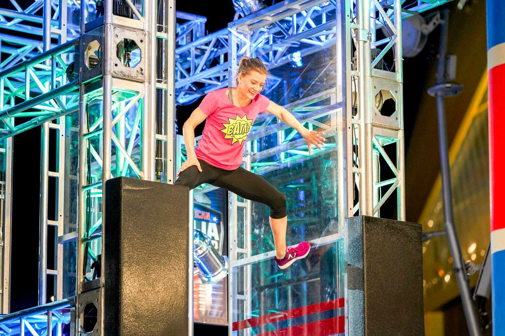 """Mindy Hylton competes in the Atlanta qualifiers for """"American Ninja Warrior"""" on NBC. (Quantrell Colbert/NBC)"""