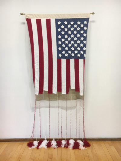"""Adrienne Sloane's """"The Unraveling"""" in a previous installation. (Courtesy Society of Arts + Crafts)"""