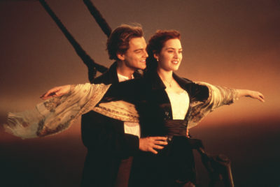 "Leonardo DiCaprio and Kate Winslet in James Cameron's 1997 film ""Titanic."" (Courtesy Paramount Pictures/Photofest)"