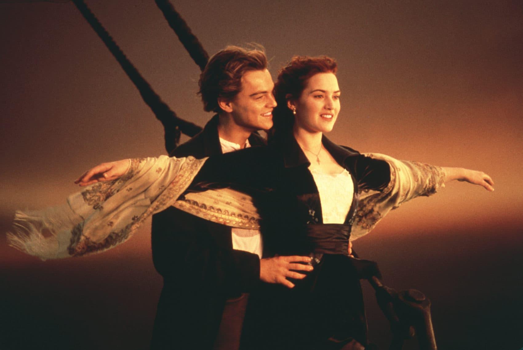 "Leonardo DiCaprio and Kate Winslet in James Cameron's 1997 film ""Titanic."" (Courtesy Paramount Pictures/Photofest)"