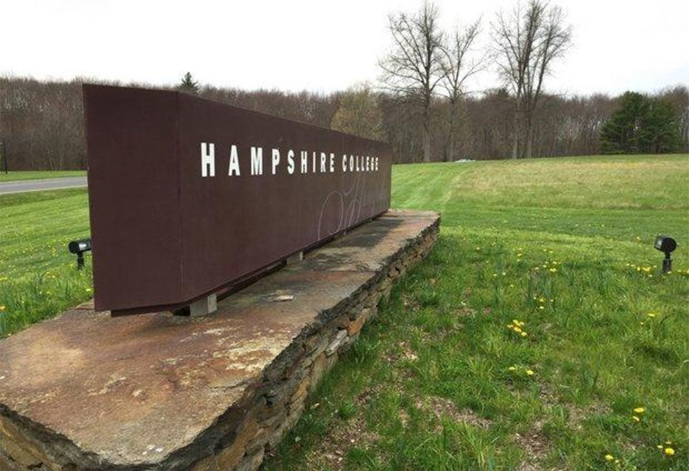 A sign at Hampshire College in Amherst, Massachusetts (Courtesy of Diane Lederman/The Republican/MassLive.com)