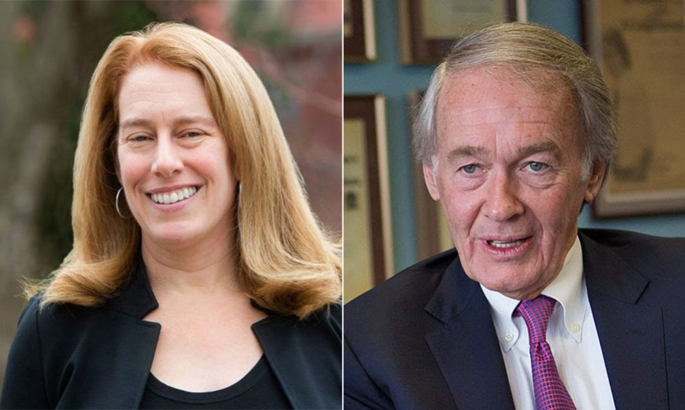 Labor lawyer Shannon Liss-Riordan is challenging U.S. Sen. Ed Markey in the Democratic primary. (Courtesy; WBUR file)