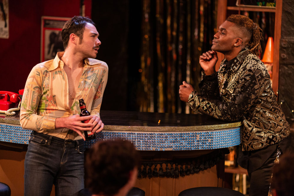 """Eddie Shields and J'royce Jata in SpeakEasy Stage's production of """"The View UpStairs."""" (Courtesy Nile Scott Studio)"""