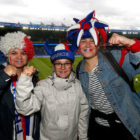 Fans of France pose for a photograph prior to the 2019 FIFA Women's World Cup. (Robert Cianflone/Getty Images)