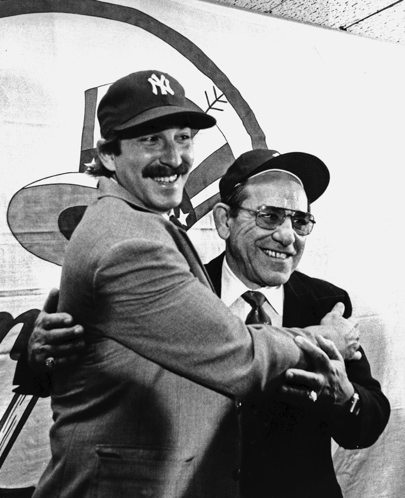 bc93441ad7 Dale Berra poses with his father at Yankee Stadium after being traded to New  York.