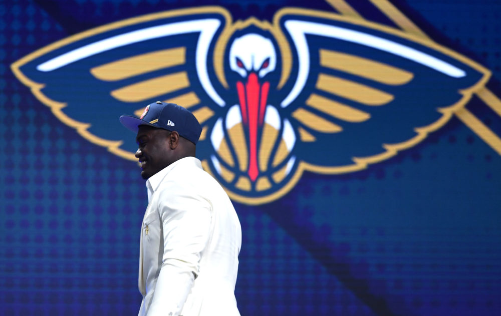 Zion Williamson was drafted with the first overall pick by the New Orleans Pelicans on Thursday night. (Sarah Stier/Getty Images)