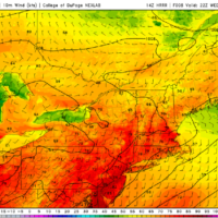 Temperatures will be warm today with lowering levels of humidity. (Courtesy COD Weather)