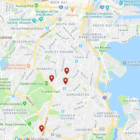 There were four shootings in Dorchester and Mattapan Sunday.