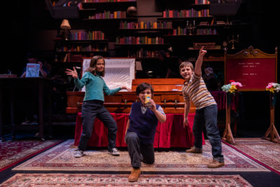 "Marissa Simeqi, Luke Gold and Cameron Levesquue in SpeakEasy's ""Fun Home."" (Courtesy Nile Scott Studios)"
