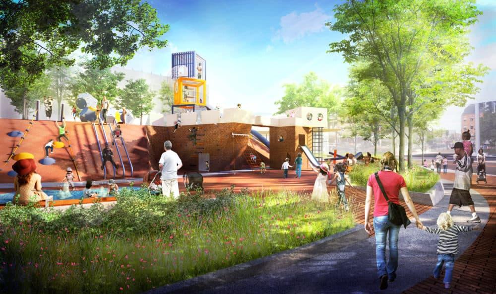 Children's playscape area. (Courtesy City of Boston)