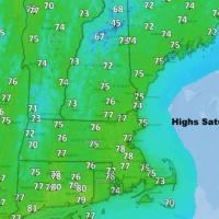 Saturday features pleasant temperatures and a northwest breeze. (Dave Epstein/WBUR)
